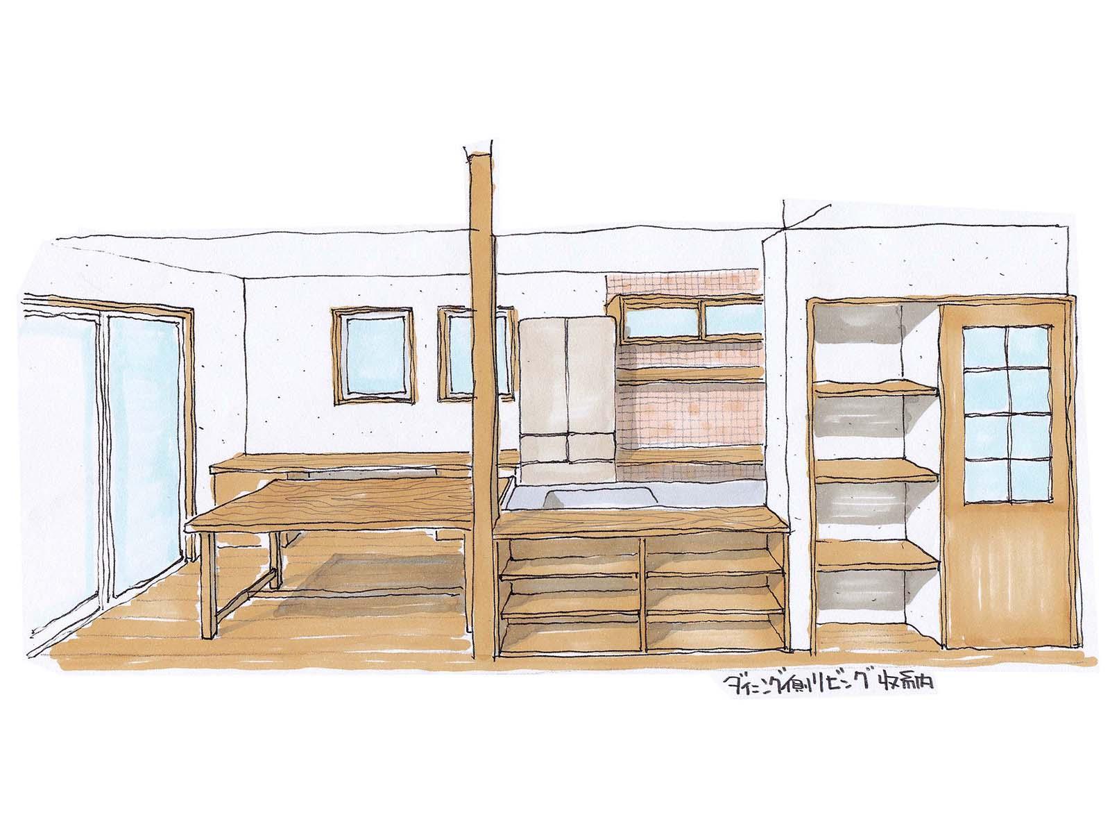 ロフトと吹抜けの立体的な空間を楽しめる家